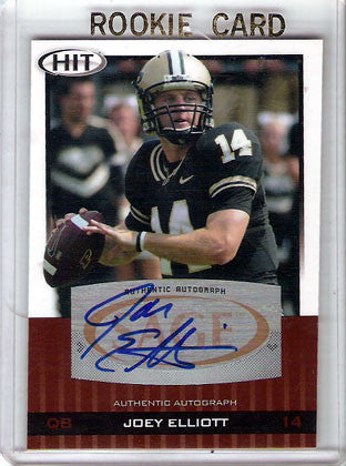 Joey Elliott Autographed Hand-Signed Rookie - TnTCollectibles