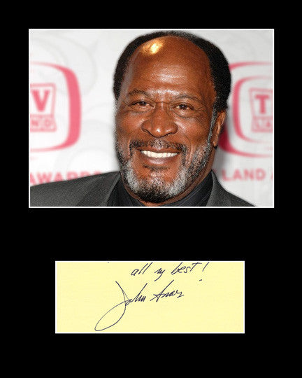 Collectible Matted TV and Film Star John Amos Signed Autograph and Photo - TnTCollectibles