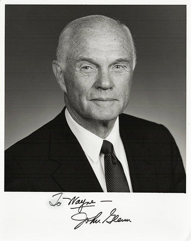 NASA Astronaut Senator John Glenn Autograph Signed Photo - First American To Orbit Earth - TnTCollectibles