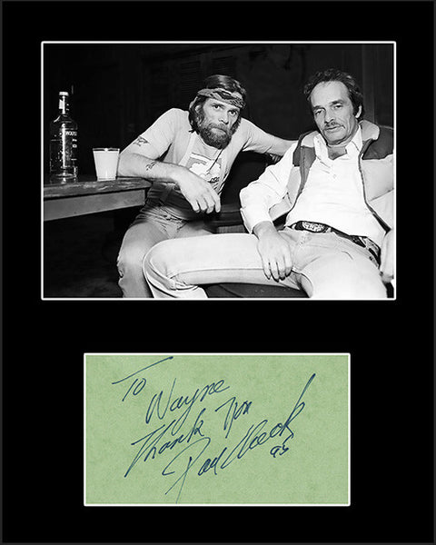 Country Music Star Johnny Paycheck Framed Matted Signed Autograph and Photo - TnTCollectibles