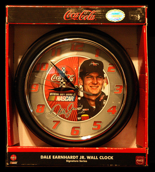 NASCAR Collectible Dale Earnhardt Jr 8 Coca Cola Metal Wall Clock - TnTCollectibles