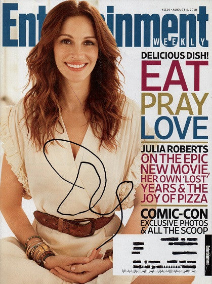 Rare Julia Roberts Autograph Hand Signed Entertainment Weekly Magazine - TnTCollectibles