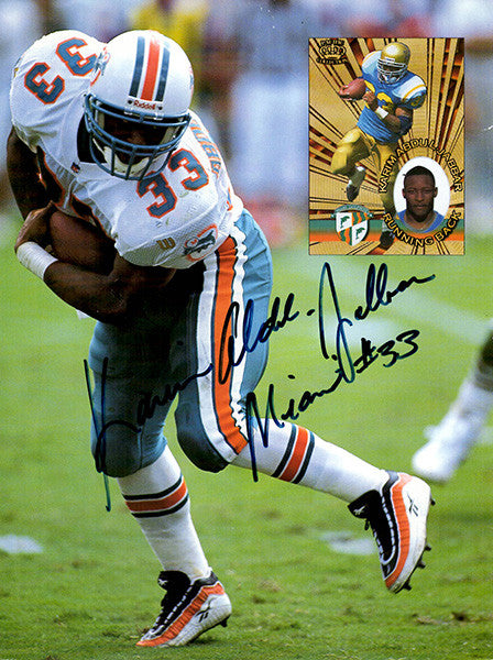 Miami Dolphins Kareem Abdul Jabbar Autographed Hand Signed Photo - TnTCollectibles