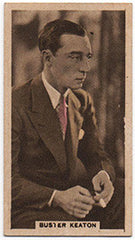1934 Buster Keaton Abdulla and Co Cinema Stars Tobacco Card M-NM - TnTCollectibles - 1