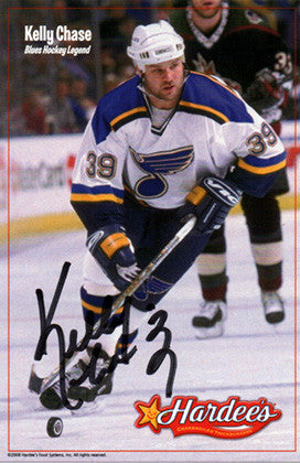 Hockey Enforcer Kelly Chase Autograph Hand Signed Photo - TnTCollectibles