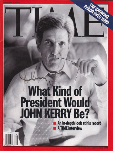 Senator John Kerry Autograph Hand Signed Time Magazine - TnTCollectibles