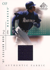 Rare Ken Griffey Jr Game Used Seattle Mariners Jersey Card - TnTCollectibles - 1