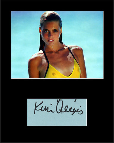 Framed Matted Supermodel Kim Alexis Hand Signed Autograph and Photo - TnTCollectibles
