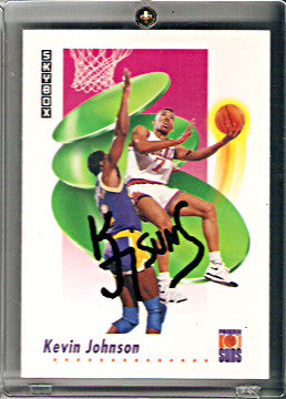 Collectible NBA Star Kevin Johnson Phoenix Suns Autographed Hand Signed Card - TnTCollectibles