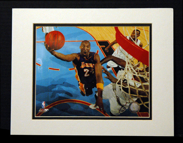 Kobe Bryant Photo File Framed 11x14 Matted Photo 5 Time NBA Champion LA Lakers - TnTCollectibles - 1