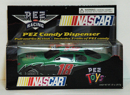 Pez Dispenser Large NASCAR Pull N Go Bobby Labonte 18 Race Car NIP - TnTCollectibles
