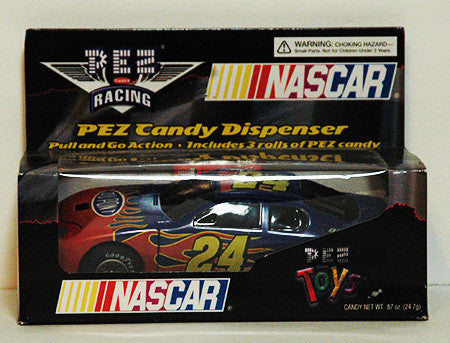 Pez Dispenser Large NASCAR Pull N Go Jeff Gordon 24 Race Car NIP - TnTCollectibles
