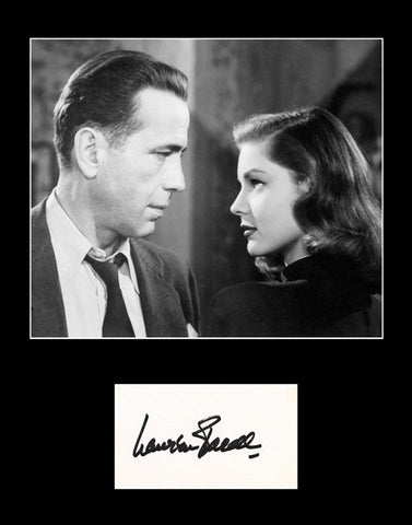 Hollywood Legend Lauren Bacall Signed Autograph and Photo Framed Matted - TnTCollectibles