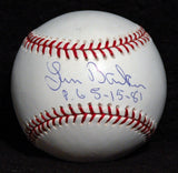 Perfect Game Pitcher Len Barker Autograph Hand Signed Baseball Cleveland Indians - TnTCollectibles - 1