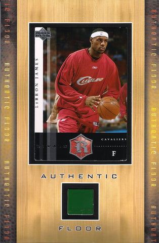 Rare Collectible LeBron James High School Game Used Floor and Card in Frame - TnTCollectibles - 1
