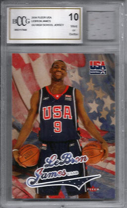 2006 Lebron James Beckett Graded Mint 10 Game Used Olympic USA Jersey and Card - TnTCollectibles - 1