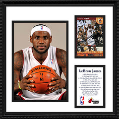 2 Time NBA Champion LeBron James Autograph Miami Heat Signed Framed Card - TnTCollectibles