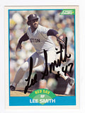 RARE Lee Smith Original Autographed Hand-Signed Red Sox Card - TnTCollectibles - 1