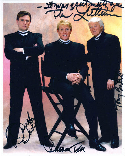 The Lettermen 60s Pop Music Legends Autograph Hand Signed Photo with Ticket Stub - TnTCollectibles - 1
