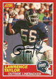 Rare Collectible 2x Super Bowl Champion Lawrence Taylor Autographed Signed Card - TnTCollectibles - 1
