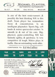 Michael Clayton Rookie Autograph Super Bowl Champion NY Giants Hand Signed Card - TnTCollectibles - 3