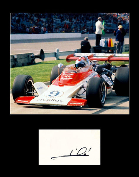 Framed Matted Racing Legend Mario Andretti Signed Autograph and Photo - TnTCollectibles