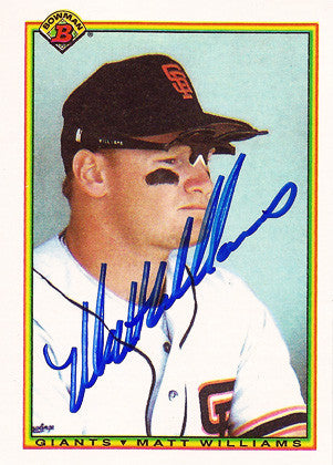 World Series Champion SF Giants Legend Matt Williams Autographed 1990 Bowman Hand Signed Card - TnTCollectibles