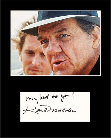 Framed Matted Star Actor Karl Malden Hand Signed Autograph and Photo - TnTCollectibles