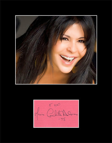 Framed Matted Singer Actress Maria Conchita Alonso Hand Signed Autograph and Photo - TnTCollectibles
