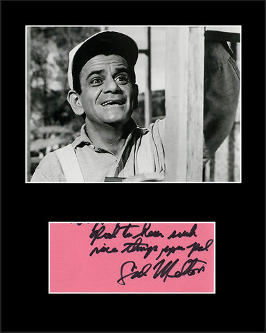 Framed Matted TV Star Sid Melton Hand Signed Autograph and Photo - TnTCollectibles