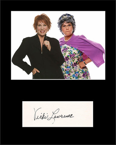 Framed Matted TV Star Vicki Lawrence Hand Signed Autograph and Photo - TnTCollectibles