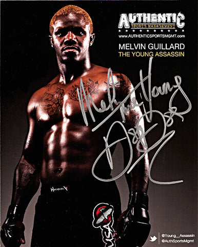 UFC Veteran Melvin 'The Young Assasin' Guillard Autograph Hand Signed Photo - TnTCollectibles