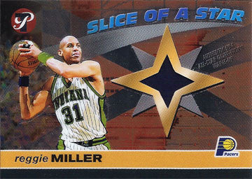 Collectible Limited Edition Reggie Miller Indiana Pacers Game Worn Jersey Card - TnTCollectibles