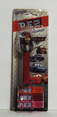 Pez Dispenser ERROR Pirates of the Carribean on Wrong Cars Card Stock NIP - TnTCollectibles