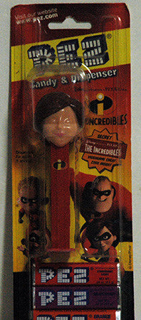 Pez Dispenser ERROR The Incredibles Elastigirl Unpainted Eyes NIP - TnTCollectibles