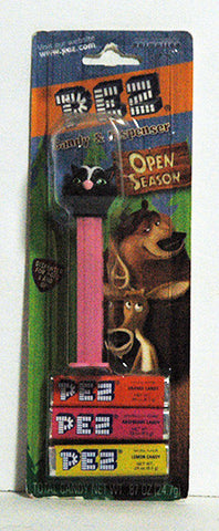 Pez Dispenser ERROR Over The Hedge on Wrong Open Season Card Stock NIP - TnTCollectibles