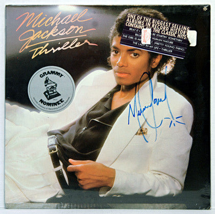 RARE Autograph Michael Jackson Hand Signed Thriller LP Factory Sealed Album - TnTCollectibles - 1