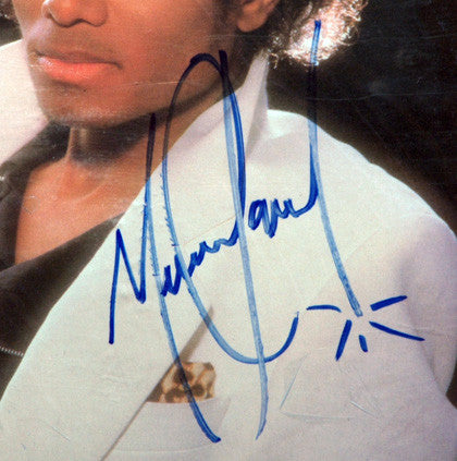 RARE Autograph Michael Jackson Hand Signed Thriller LP Factory Sealed Album - TnTCollectibles - 2