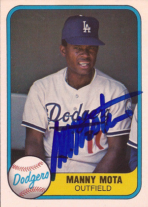 2x World Series Champion Manny Mota Autograph Hand Signed 1978 Dodgers Card - TnTCollectibles