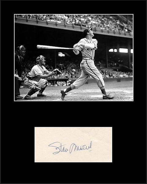 Framed Matted Baseball Legend Stan The Man Stan Musial Autograph and Photo - TnTCollectibles