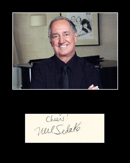 Framed Matted Pop Music Star Neil Sedaka Signed Autograph and Photo - TnTCollectibles