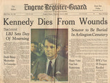 RFK Robert F Kennedy Final Hours Newspaper Collection - June 1, June 4 to June 7 1963 - TnTCollectibles - 1