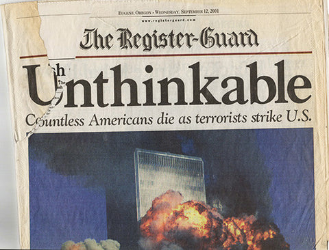 9 11 NY World Trade Center Terrorist Attack Register Guard Newspaper 9/12/01 September 12 2001 2 - TnTCollectibles - 1
