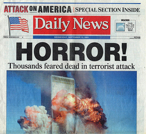 9 11 NY World Trade Center Terrorist Attack Daily News Newspaper 9/12/01 September 12 2001 - TnTCollectibles - 1