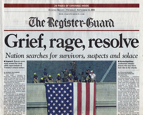9 11 Newspaper Coverage Section A Lot of 6 Sept 13 14 15 17 20 21 2001 Issues - TnTCollectibles - 1