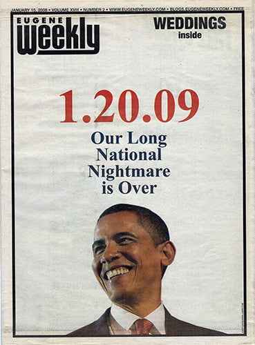 President Barack Obama Inauguration Eugene Weekly Newspaper Jan 20 2009 - TnTCollectibles