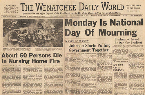 President John F Kennedy JFK Assassination Sunday Newspaper Nov. 24, 1963 - 1 - TnTCollectibles - 2
