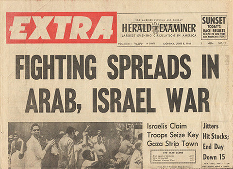 June 5 1967 Newspaper - Arab Isreal War - TnTCollectibles
