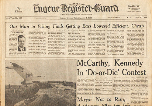 RFK Robert F Kennedy Final Hours Newspaper Collection - June 1, June 4 to June 7 1963 - TnTCollectibles - 5