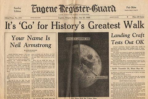 Day Before Man Walks On Moon Neil Armstrong Newspaper 7 20 1969 - TnTCollectibles